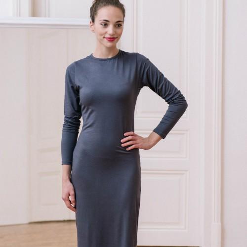 šaty a sukně Linea tmavě šedá