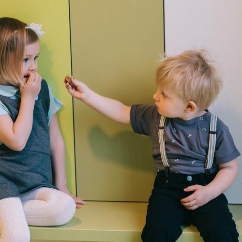 dětské oblečení Grid šedá