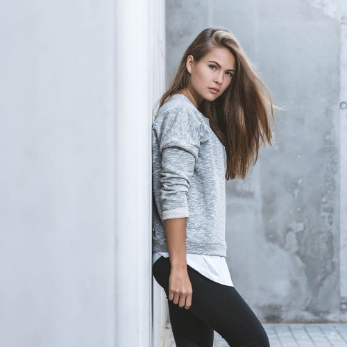 women sweatshirt and sweaters Dora Grey melange