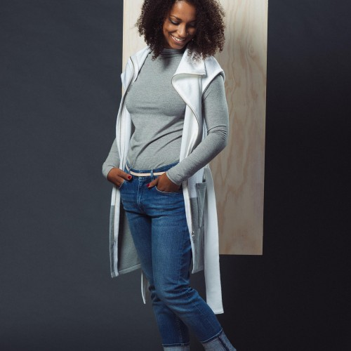women sweatshirt and sweaters Karen white/grey