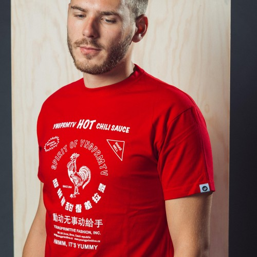 t-shirt for men Sriracha red