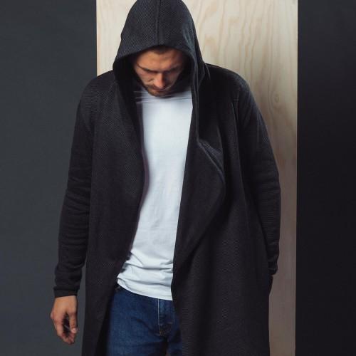pánská mikina Magnus černá/šedá