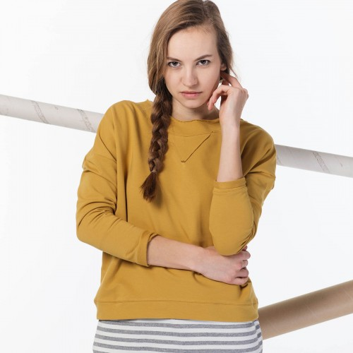 women sweatshirt and sweaters Dora mustard