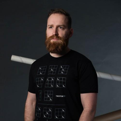 t-shirt for men Binar black
