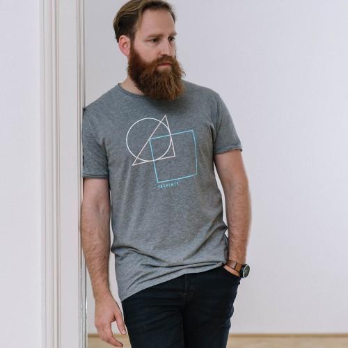 t-shirt for men Geometry grey melange