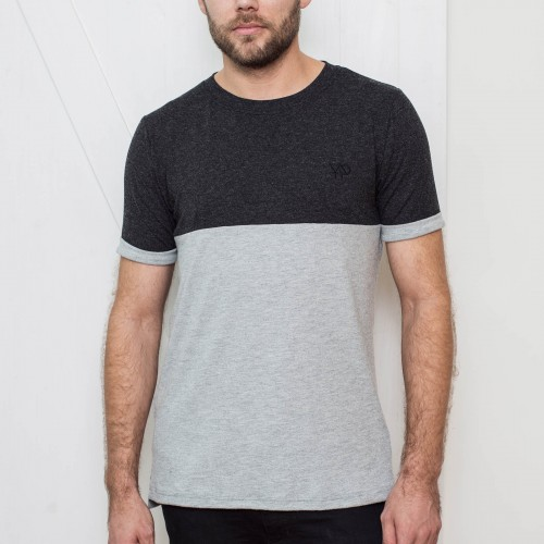 t-shirt for men Otto grey black