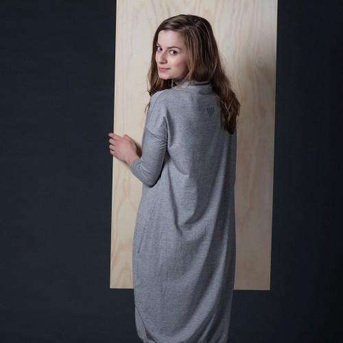 šaty a sukně Vilma šedý melír