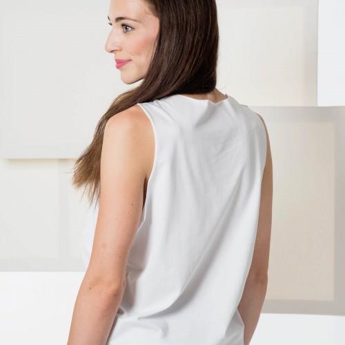t-shirt for women Split white/grey
