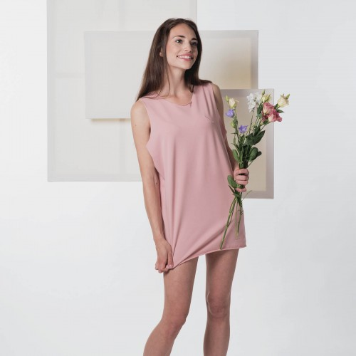 t-shirt for women Split powder pink