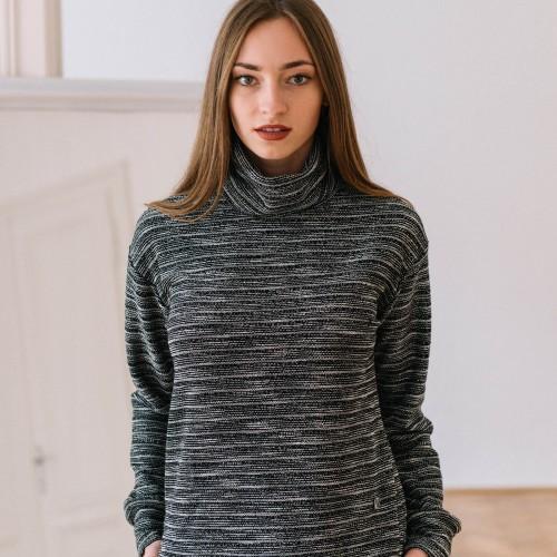 women sweatshirt and sweaters Liva black melange