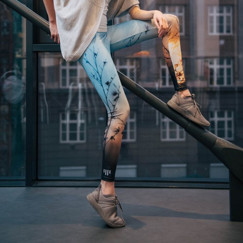 Leggings Sunset light blue