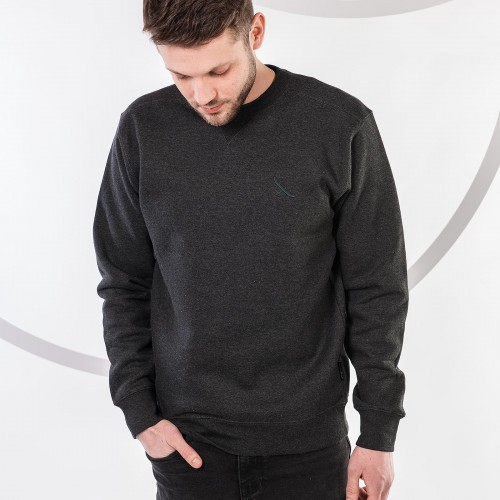 men sweatshirt MATT Grey heather