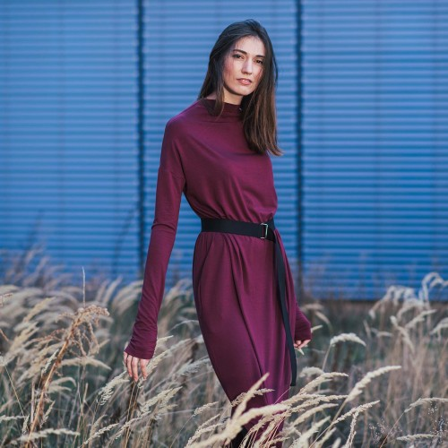Dresses and skirts Vilma 2.0 wine red