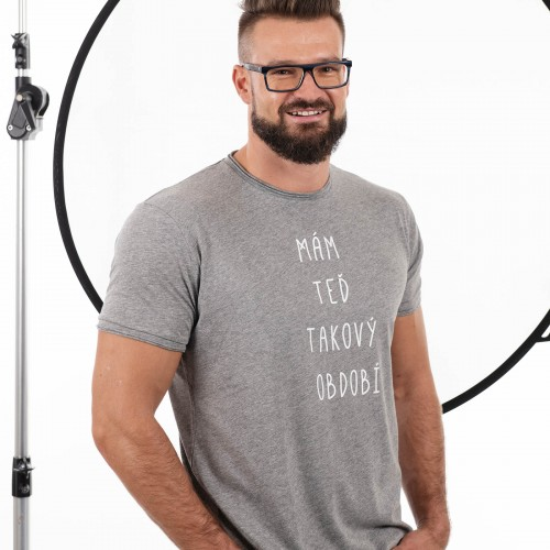 Pánské tričko Období šedý melír
