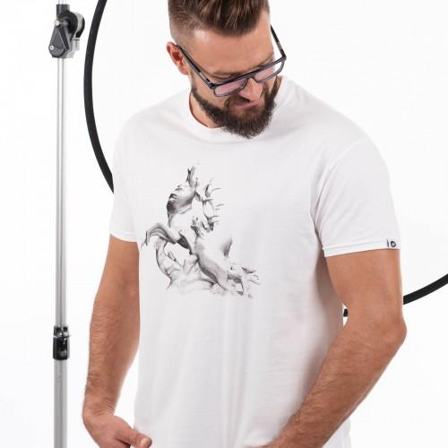 Pánské tričko Štvanice Bílá