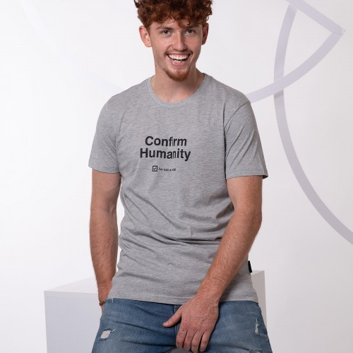 t-shirt for men Humanity grey melange