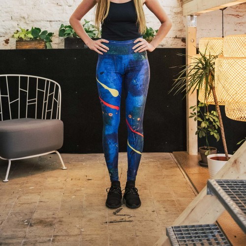 Leggings Splash blue