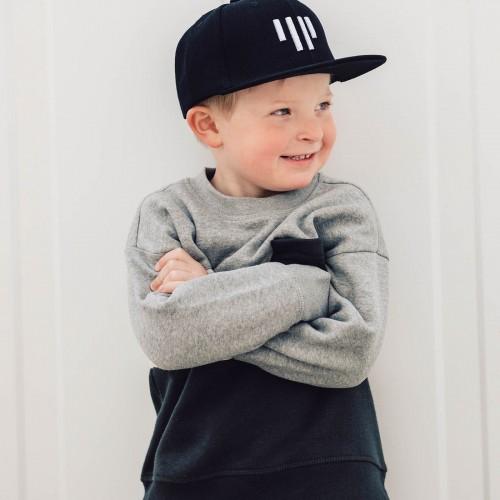 dětské oblečení Kids snapback černobílá