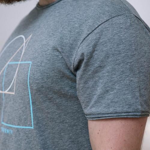 Pánské tričko Geometry šedý melír
