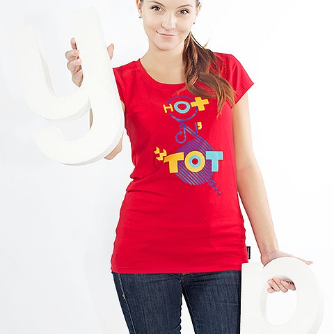 t-shirt for women Hotentot red