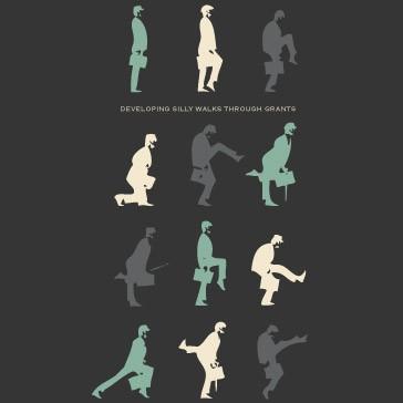 t-shirt for men Silly walk Black
