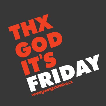 t-shirt for men Thx God its friday used black