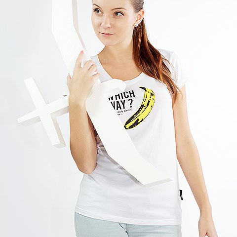 t-shirt for women Which way? white