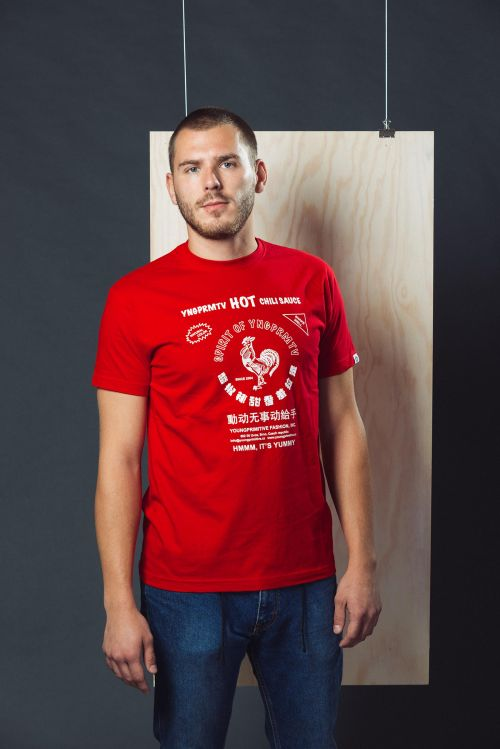 Pánské tričko Sriracha červená
