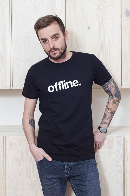 t-shirt for men Offline black