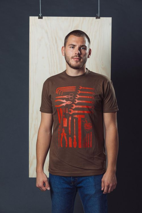 Pánské tričko Handyman hnědá