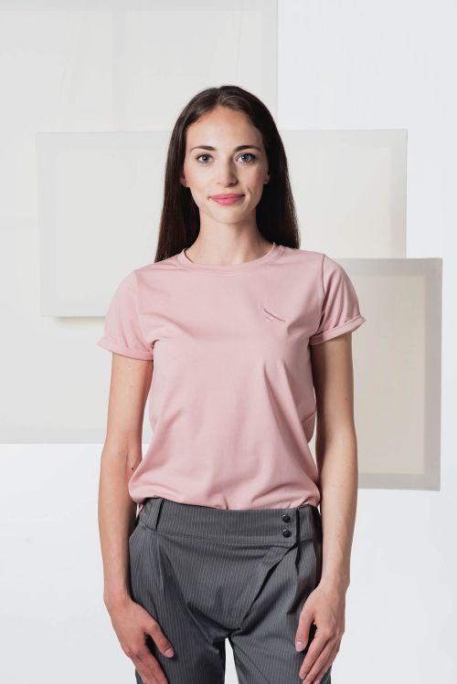Dámské trička a košile Thea pudrově růžová