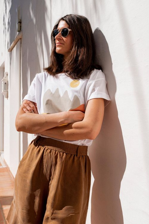 t-shirt and shirt for women Sunshine white