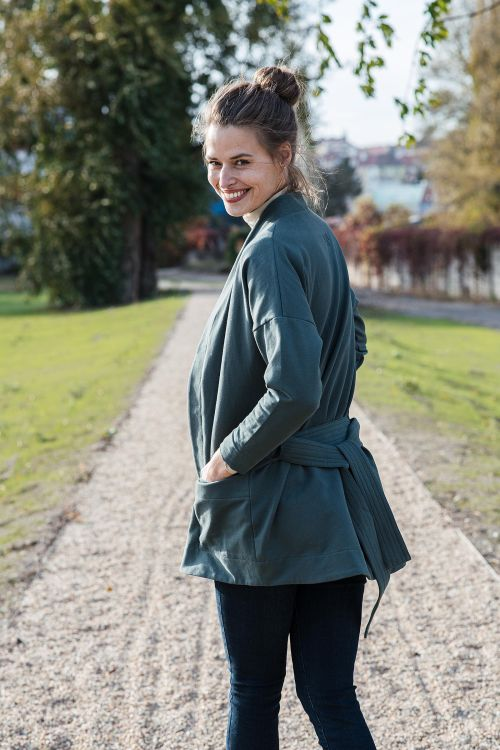 sweatshirt and rollneck Noona green