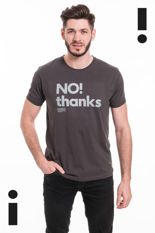 t-shirt for men No thanks dark grey