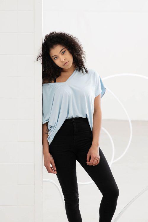 t-shirt for women venus skyblue