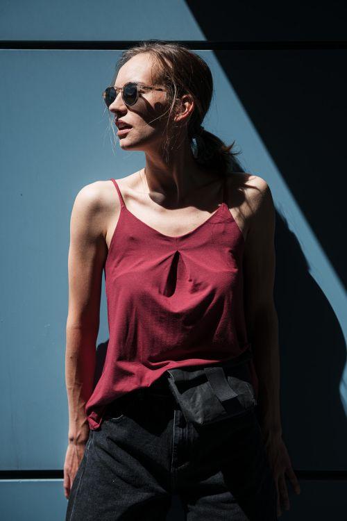 trička a košile Živa cihlově červená
