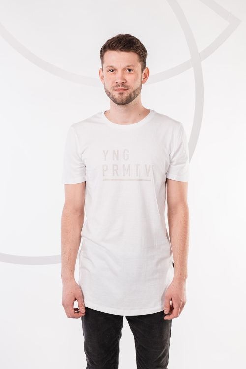 t-shirt for men YNGPRMTV white