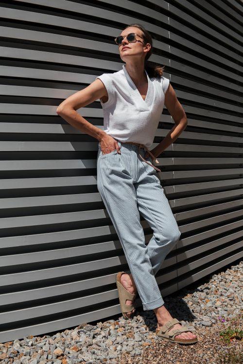 Kalhoty & šortky Gala modrý proužek