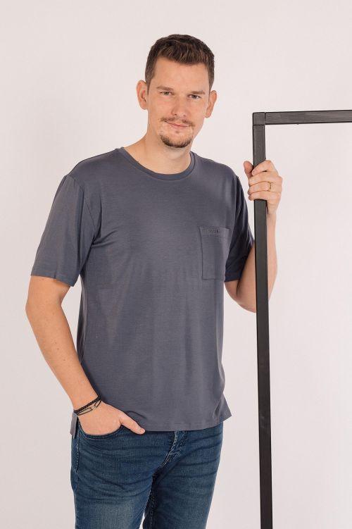 t-shirt Franc steel