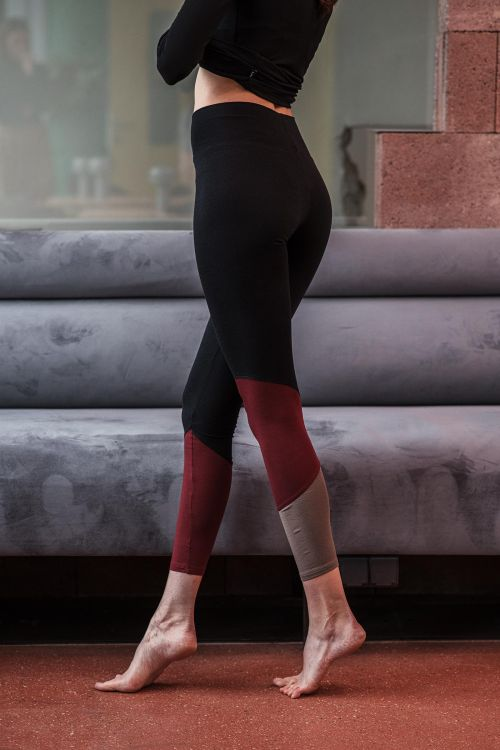 Bamboo leggings Ying Black