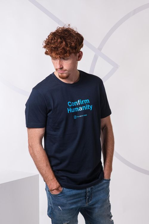 t-shirt for men Humanity navy blue