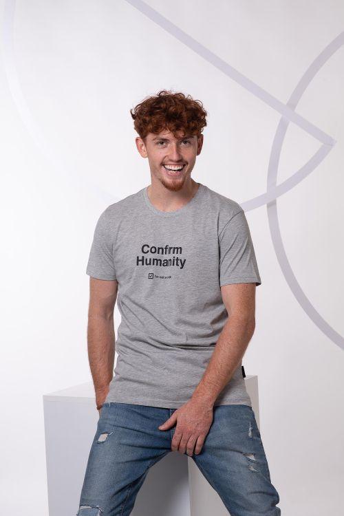 Pánské tričko Humanity šedý melír