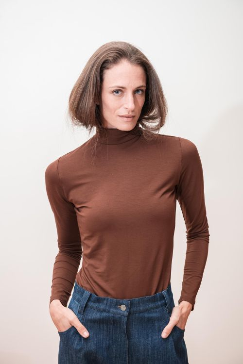 sweatshirt and rollneck Alma brown