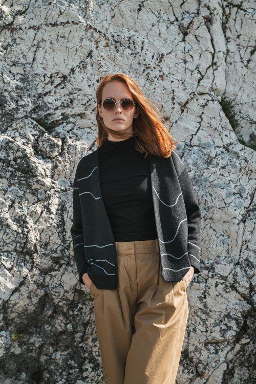 Merino kolekce Jackie anthracit contour