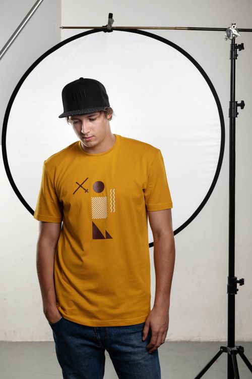 t-shirt for men Venca yellow
