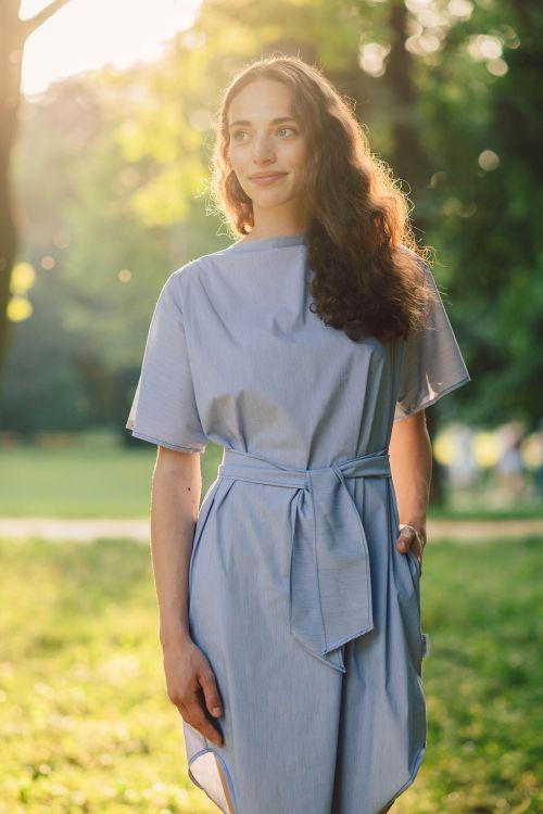 Šaty a sukně Linnea modrý proužek