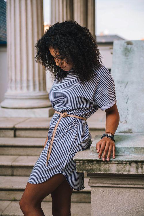 Šaty a sukně Nella modrý proužek