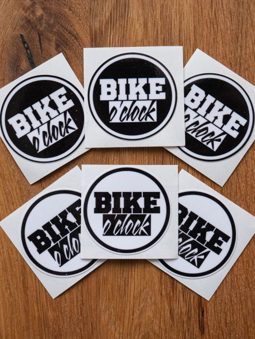 "Set nálepek Bike O'Clock - ""Stickers set 6ks"" White, black"