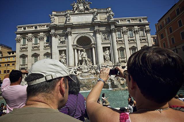 Nejnesmyslnější místo v celém Římě přecpané k prasknutí turisty