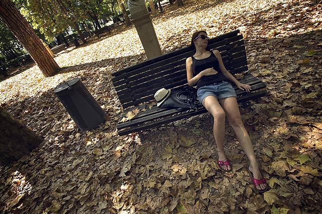 Odpočinek v parku Villa Borghese